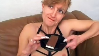 German born Age Chows down on Cum Before Anal