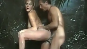 Adorable brown Italian gorgeous feeds on a cock or her man