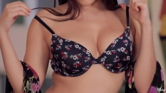 Plus size toddler unpins her bra and pieces her fine panties for your exotic masturbatory stimulation