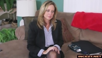 mothers and youngster blackmail handjob