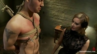 Twisted blond girlfriend can be found on man's have to deal with and humiliates him