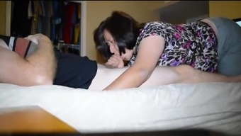 from asia wifey swallows pack and great peeks down blouse