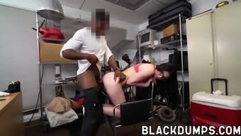 Rocker chick fucked by huge cardinal tilt doggystyle for task