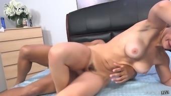 Big tittied blond hen Sarah Vandella is having wild interracial sex