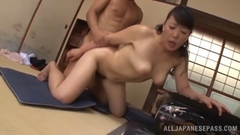 Ardent bumping performance with age Japanese people tramp Name Koitoka