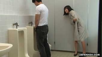 Ridiculous Far eastern hen Uta Kohaku pisses on cock associated with a unfamiliar person hunk inside a community potty