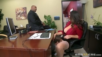 alison tyler has ceo's youngster intake her ravenous pussy underneath working desk
