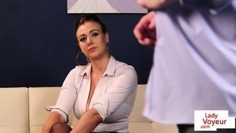 Big tits british voyeur lecturing subscription to fool