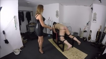 Lady friend Retracted Caning Her machine
