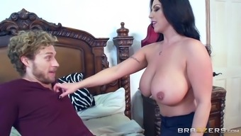 sheridan love let loose her substantial tits and make him persuade her nipples