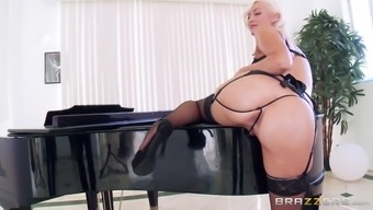 jenna ivory wear dark colored intimate apparel and exhibiting her grown stupid ass