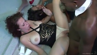 drunk girls are fucked by strippers in social gathering reduce