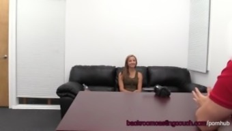 Novice Yellow Assfuck & Anus Creampie on Illuminating Sofa