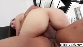 marissa mae popped by her attractive stepdad