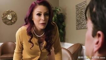 Ripping off of the pantyhose of a new hot blonde Monique Alexander