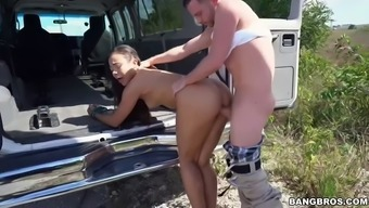 adrian maya needs a ride cuz her auto is broken consequently he rides his dick