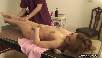 Remarkable sexual massage therapy undertaken for oiled girlfriend or wife Tiara Kujyo