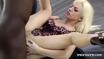 blonde conversational french hen jessie volt gets sodomized by african homegirl