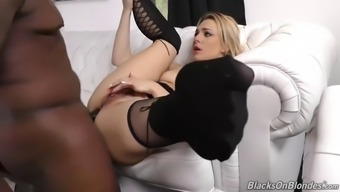 dahlia atmosphere enjoys big dark colored cock pulling in her pussy and stupid ass