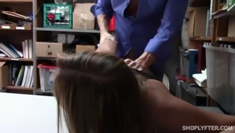 blair williams almost cries whereas getting fucked for shoplifting