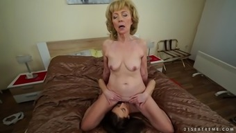 wild currency pair granny szuzanne loves katy rose's glorious pussy