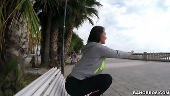 franceska jaimes within a leggings soliciting located on the bench in government departments