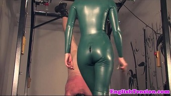 Redheaded bdsm girlfriend caning and spanking
