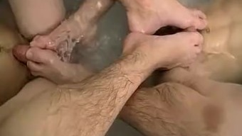 Attractive dude jerking photography joyful Making out And A
