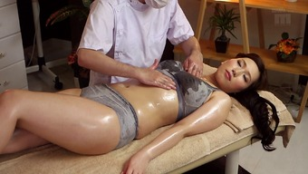 Heated Japanese people milf on the rubdown desk for finger fucking