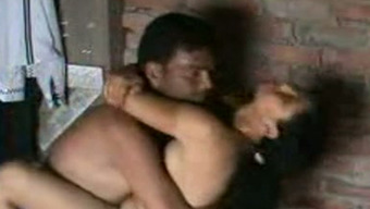 Cute Indian housewife gives handjob to really her partner