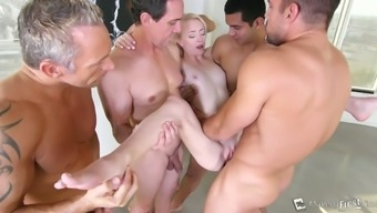 Appealing brown splendor Maddy Rebeled gets drilled complicated in crew worth