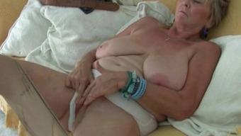 Britain granny Isabel gives fanny a goody