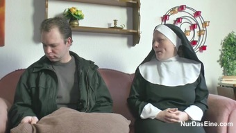 German Youthful Guy persuade Granny Nun to effectively Fuck Him