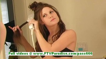 Jenny gorgeous dark female getting bare and firing