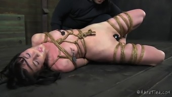 Gorgeous slavery cowgirl spanked and joshed in BDSM adult material