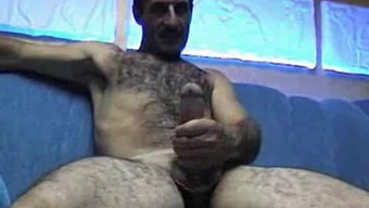 Heated Furry Turkish Father Jacks Off Solo