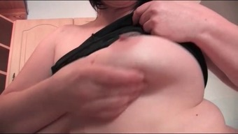 Chubby housewife masturbate in the kitchen
