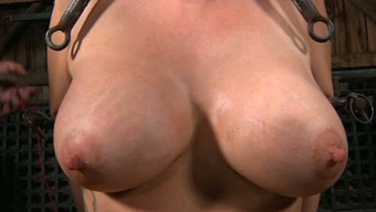 Big boobed surrounded nasty person needs to go through like she's in hell