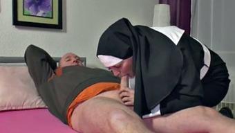 In german Granny Nun get Fucked by using not papa in SexTape