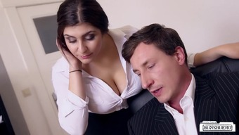 BUMS BUERO - Big tits A language like german secretary fucks person-in-charge at the office