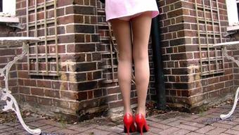 Short Dress And Natural cotton Panties