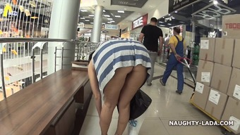 Naughty in a shopping mall