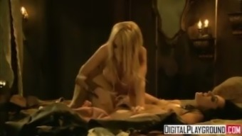 Standard Scalywags two(2): Jesse Jane and Belladonna in hot rough lesbian intercourse