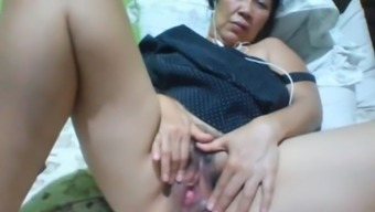 Filipino granny 58 fucking me ludicrous on cam. (Beige)1(one)