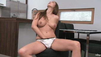 Connie Carter plays together stunning pussy in astounding solo scene