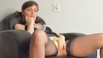 Kirsty Ivory Masturbates With Her Panties On