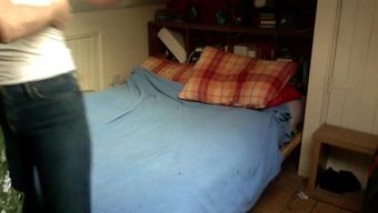 Girl friend concealed cam bedroom
