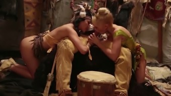 Hot Indian woman and adorable blond leprechaun persuade one large very difficult dick meanly
