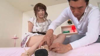 Asian covered in coconut oil looks slick and beautiful getting laid