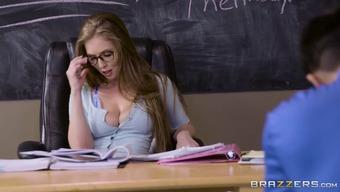 Lena Slavik fucks scholar during examination
